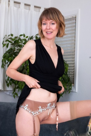 British redhead Jamie Foster touches her breasts while showing her pussy 35023606
