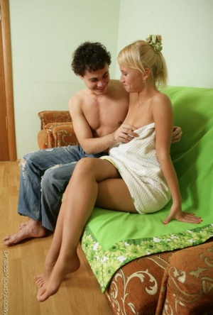 Blue-eyed blonde girl blows her guy's dick before and after fucking 44335769