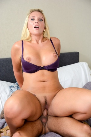 Blonde chick Kacy Kisha and her man swap oral sex favours before fucking