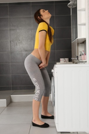 Horny girl Jessica Bell pees in her pants before dildoing and drinking piss 50454730