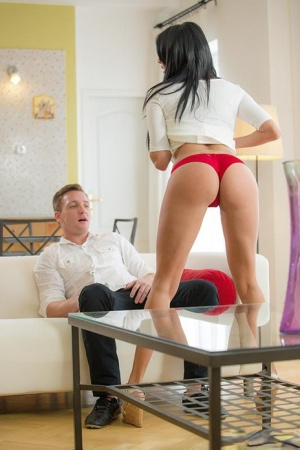 Sexy brunette filly Anissa Kate gets her cunt rammed with a big cock