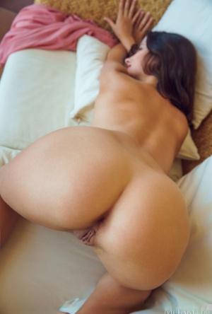 Young brunette Jasmine Jazz casts off a dress and thong to show her nude body 10813947