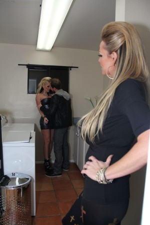 Horny couple Kelly Madison & Ryan Madison invite Alena Croft over for a 3some 19283832