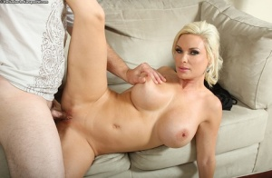 Blonde milf with good big tits Diamond Foxxx is bumped really hard