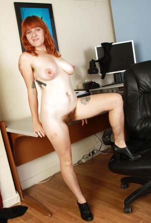 Ugly redhead milf Velma with big tits hairy pussy and hairy legs