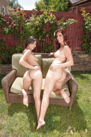 Clothed milf lesbian is seducing young beauty Alicia Silver