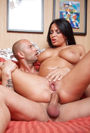 Brunette babe Anissa Kate rides that cock and gets an anal bang