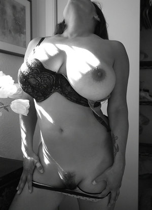 Lingerie model with big tits Monica Mendez shows off her hairy cunt 42091589
