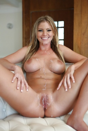 Busty blonde Brianna Brooks was fucked in her accurate-looking pussy