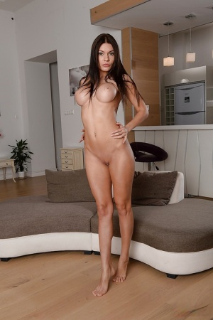 Latina brunette Kitana Lure demonstrates her ideal naked body
