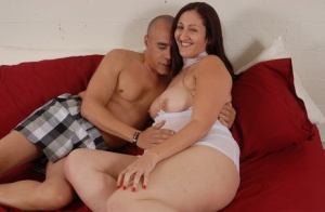 Fatty chick Sonia is getting banged hard in her unshaved vagina