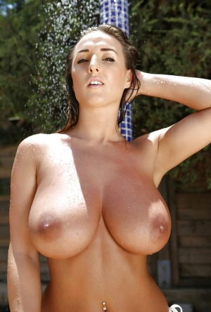 Big-tit babe Stacey Poole is demonstrating her awesome naked body