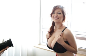 Big-tit pornstar Tessa Fowler demonstrates her awesome boobies