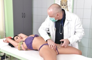Anissa Kate visits her fetish doctor and gets a new BDSM lesson