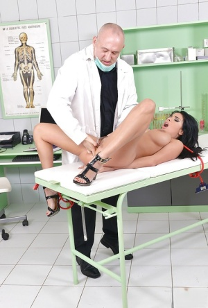 BDSM diva Anissa Kate gets her butt ploughed roughly by doctor