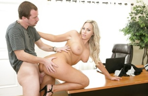 Strict office milf Olivia Austin gets cumshot after the working hours