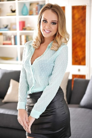 Fully clothed photos of hot babe Alexis Adams in tight fitting skirt 48562337