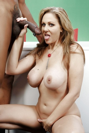 Hardcore interracial anal sex and bj from big tit Milf Julia Ann