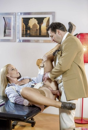 Tight pussy screwing with insatiable office babe Kathia Nobili