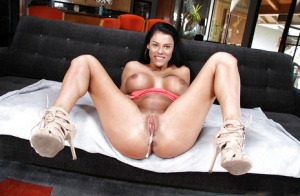 Brunette Peta Jensen gets stuffed and creampied with a long dick