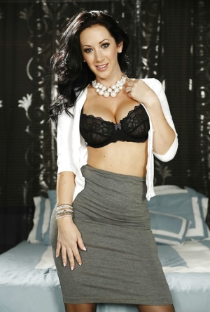 Randy wife Jayden Jaymes is a playful hottie that likes to get naked
