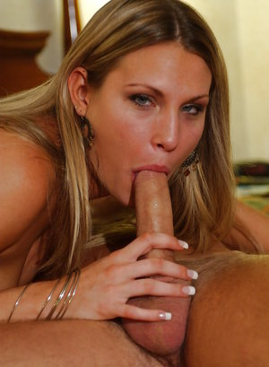 Sexy blonde model Harmony licking cock with pink tongue for close ups 59315465