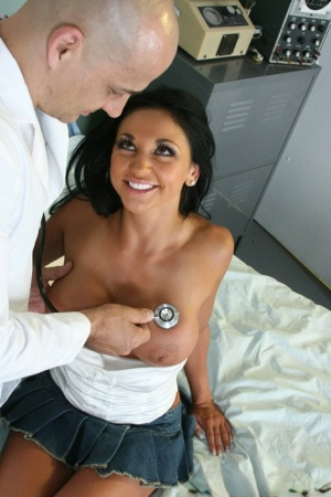 Audrey Bitoni lets a doctor play with her tits and fuck her wet cunt