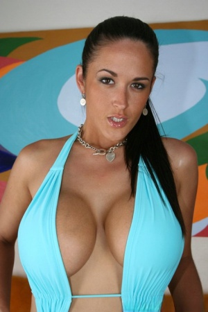 BBW MILF Carmella Bing showing off massive breasts and shaved twat