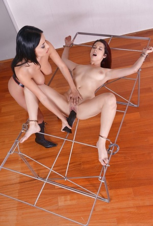 Kinky lesbians BDSM sex games with hot babes Zenda Sexy and Anissa Kate