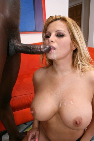 Peachy MILF with big boobs Friday has hardcore interracial sex