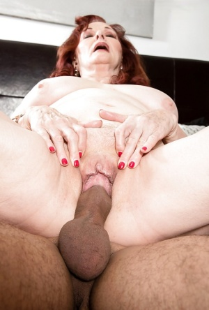 Chubby granny Katherine Merlot blowing cock before cumshot in mouth