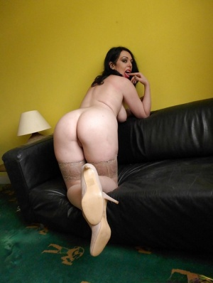 Stocking attired amateur Harley Sin revealing large natural tits and ass 28532852