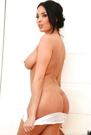 Passionate amateur Anissa Kate reveals the big tits and shaved pussy