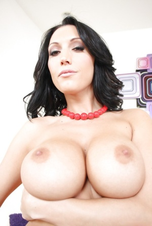 MILF pornstar Dylan Ryder releasing fake tits and big ass from plaid pretties