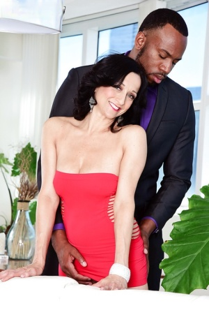 Mature with shaved pussy Karma Karson hard fucked by younger black stallion