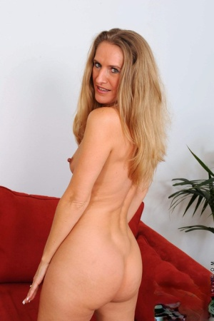 Mature in hot lingerie Sara James sensual nudity and pussy fingering