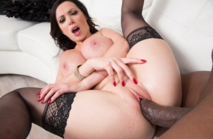 MILF pornstar Nikki Benz sucks and fucks a really big black cock