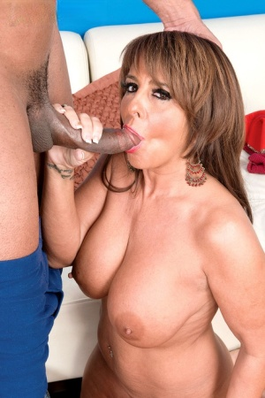 Mature housewife Cassidy plays with a big dick and gets her ass destroyed