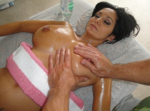 Big boobed MILF Ava Adams gets banged by her masseur after an oil massage