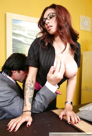 Latina Adrenalynn hard fucked at work and made to swallow sperm