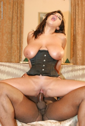 MILF with big tits Alexis Silver goes hardcore interracial riding a black cock 44583949
