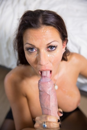 Top MILF pornstar Rachel Starr bangs a large penis in stockings and garters