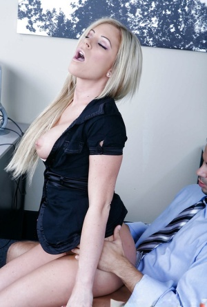 Big boobed office worker Ahryan Astyn seducing man with large dick for sex 74263376