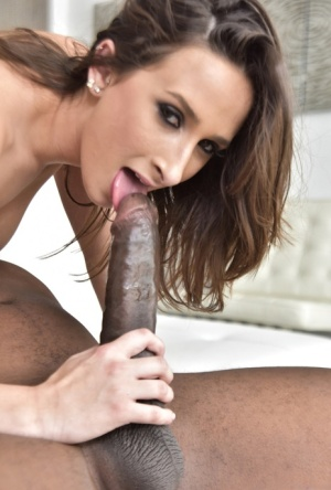 Nude pornstar Ashley Adams goes ass to mouth with a massive black dick 98940616