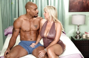 Busty blonde MILF Naughty Alysha likes to fuck a huge black dick