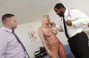 Busty blonde MILF Devon Lee sucks and fucks a big black cock