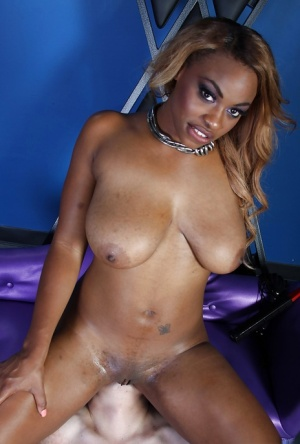 Kinky ebony femdom Tori Taylor has some fun with a submissive guy