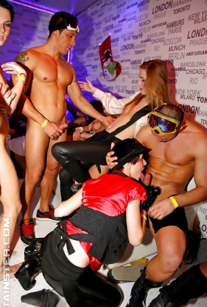 Tempting european lassies getting down at the hardcore sex party