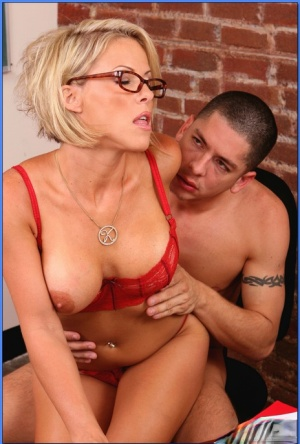 MILF teacher in glasses Kayla Synz gets her wet pussy drilled hard