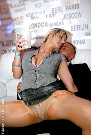 Letch MILFs enjoy pussy licking and cock sucking action at the drunk party 66332907